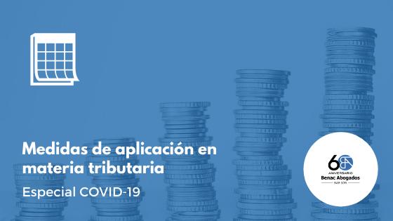 Medidas de aplicación en materia tributaria