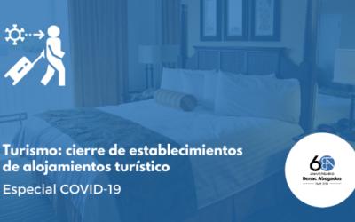 Turismo: cierre de establecimientos de alojamientos turístico