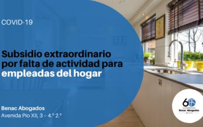 Subsidio extraordinario por falta de actividad para empleadas del hogar